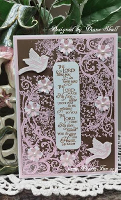 ODBD Belles Vignes, ODBD Scripture Series 1, ODBD Spread Your Wings, ODBD Custom Birds and Nest Dies, Card Designer Diane Shull