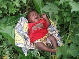 """An abandoned girl was rescued on Tuesday by the Officials of the Nigeria Security and Civil Defence Corps, NSCDC, Abia State Command.  The baby who was abandoned with a written letter from the unknown mother was rescued by the Anti-Traffic Unit of the agency near a health centre in Avodim village in Umuahia South LGA.  While speaking with Channels Television, the state commandant of the NSCDC, Walter Chika said the letter noted that the baby should not be sold but be kept in a motherless home or given to a good Nigerian who would take care of her.   """"The abandoned child was rescued by the Anti-Traffic Unit of the agency near a health centre in Avodim village in Umuahia South LGA.  """"The mother, in a letter said she should not be sold but handed over to motherless babies' home or any well-meaning Nigerian who can cater for her welfare,"""" Chika added."""