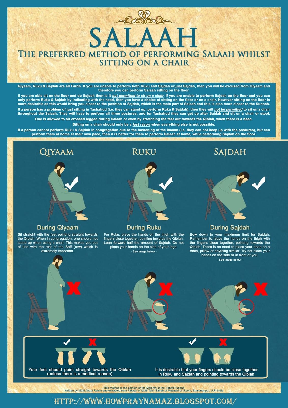 How To Pray Namaz On Chair | How To Pray Namaz