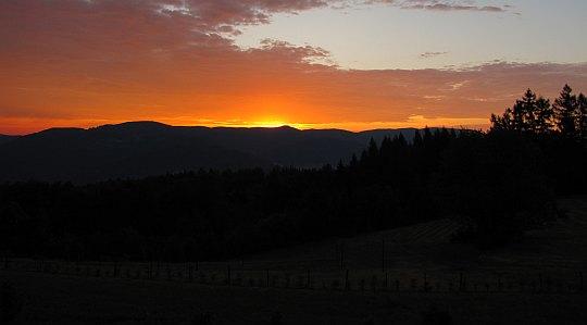 Wschód słońca na Kordowcu.