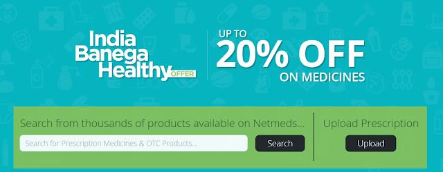 Netmeds.com flat 20% Off