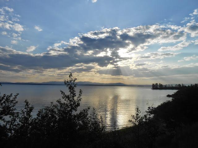 Озеро Иртяш вечером
