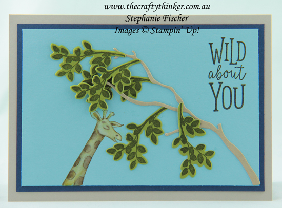 #thecraftythinker  #animalouting  #boyscard  #stampinup  #cardmaking  #rubberstamping , Animal Outing, Rooted in Nature, Boy's card, Giraffe card, Stampin' Up Australia Demonstrator, Stephanie Fischer, Sydney NSW