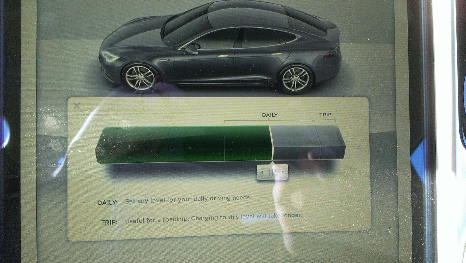 You See Tesla Lets Manage The Amount Of Battery That Use Decide If Want To Charge 100 Your Or Less Depending On Needs