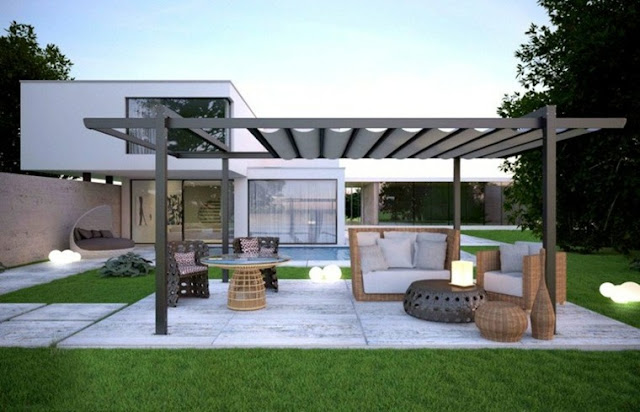 25 aluminum pergola design ideas living rooms gallery for Pergola aluminium design