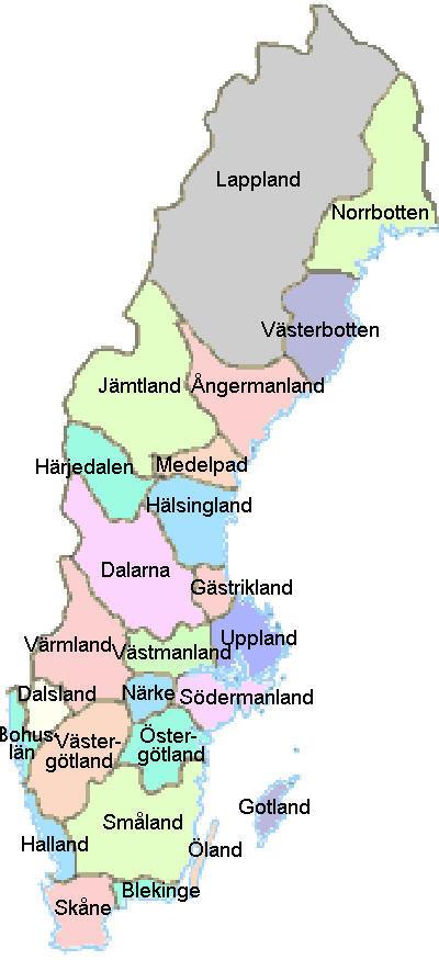 Karta Over Angermanland Regionen Karta Over Sverige Geografisk