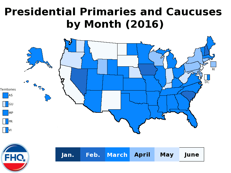 Map Of Texas Voting Results 2016.Frontloading Hq The 2016 Presidential Primary Calendar