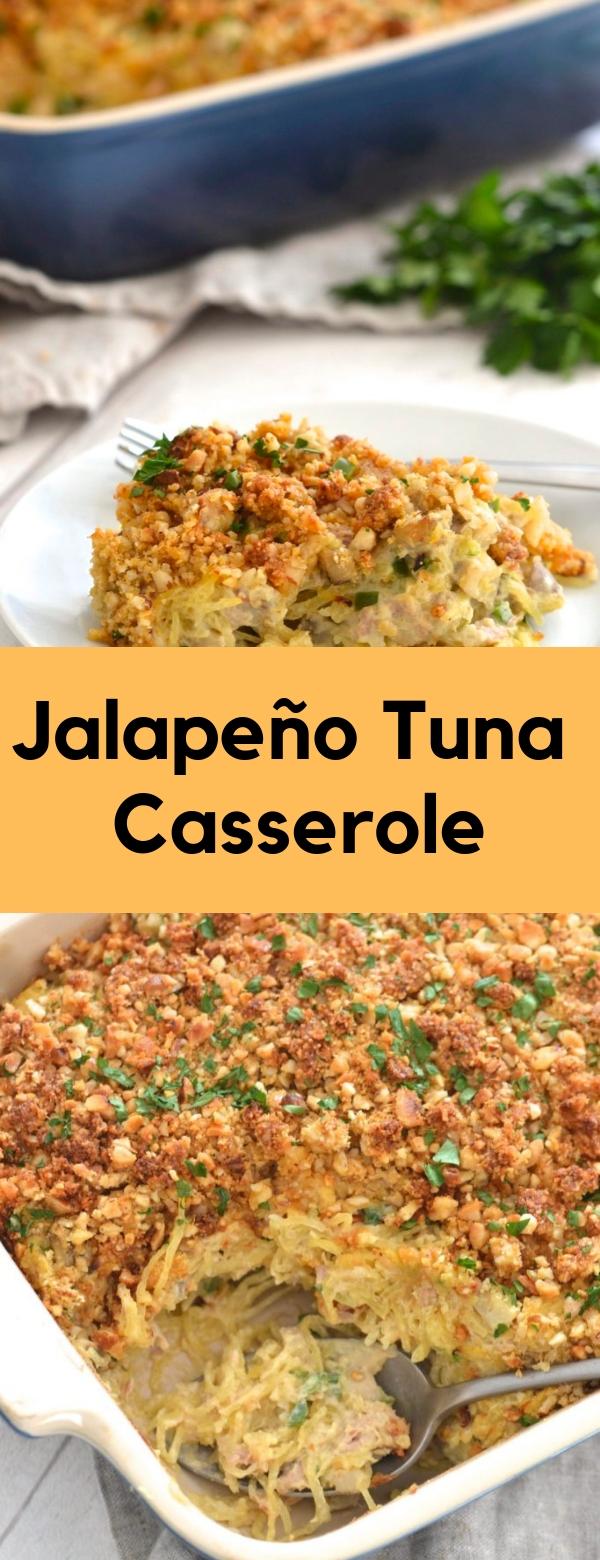 Jalapeño Tuna Casserole #GLUTENFREE #PALEO #WHOLE30 #DAIRYFREE #CASSEROLE