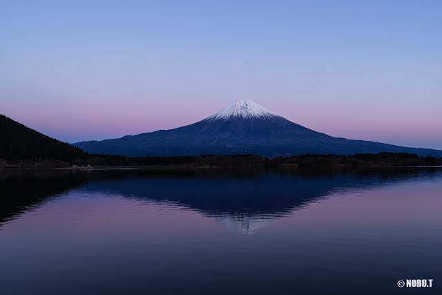 2017年元日の夕景富士~田貫湖