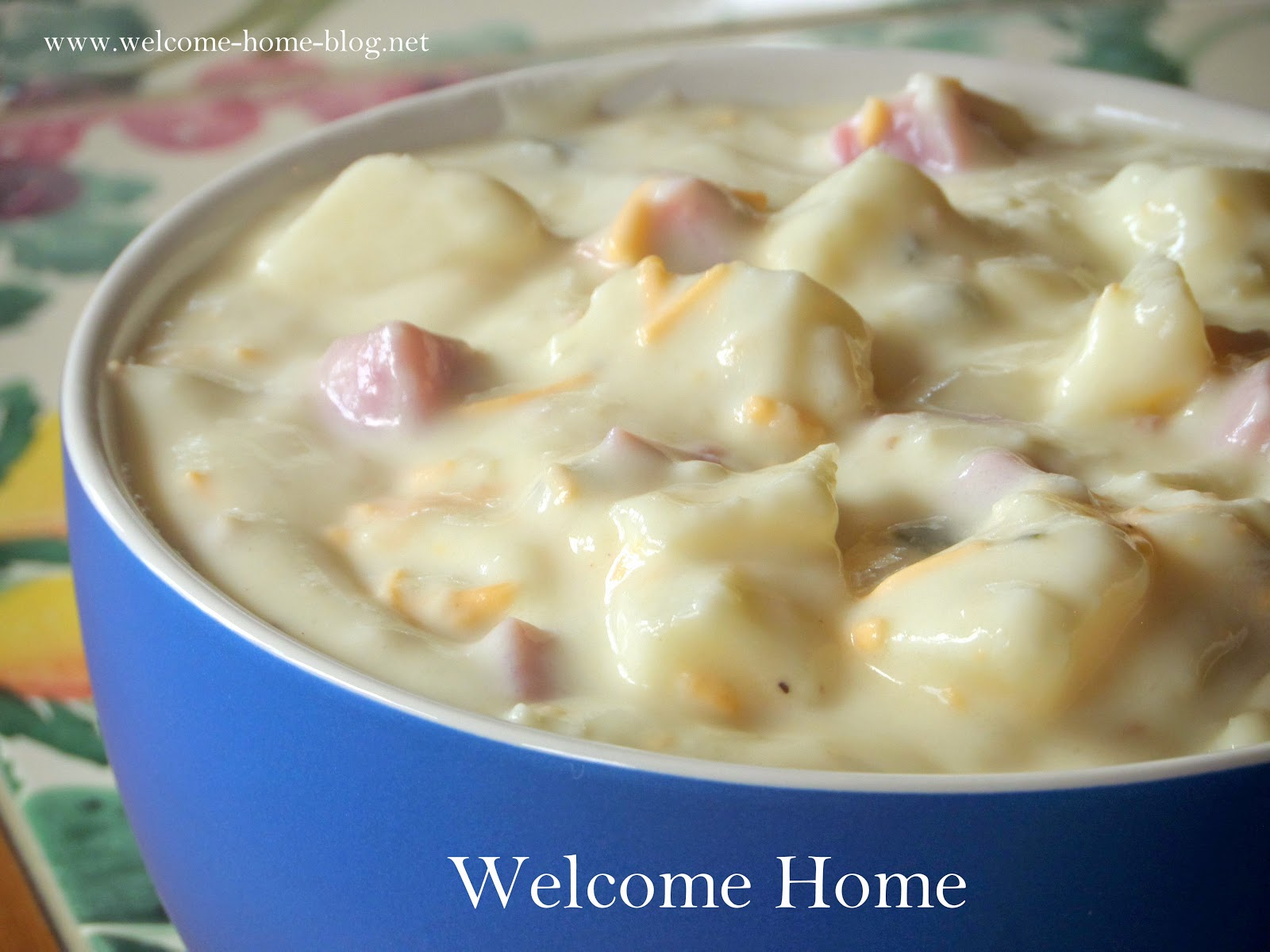 Welcome Home Blog: ♥ Thick and Creamy Potato Soup and Ham