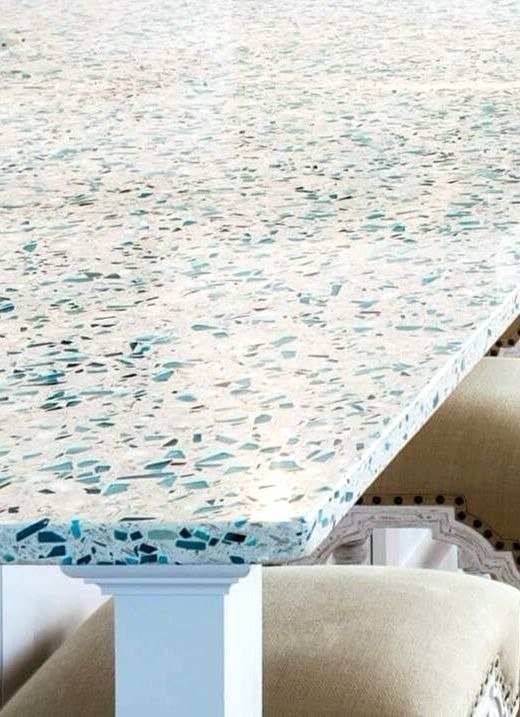 Recycled Sea Glass Style Countertop Ideas For Kitchen