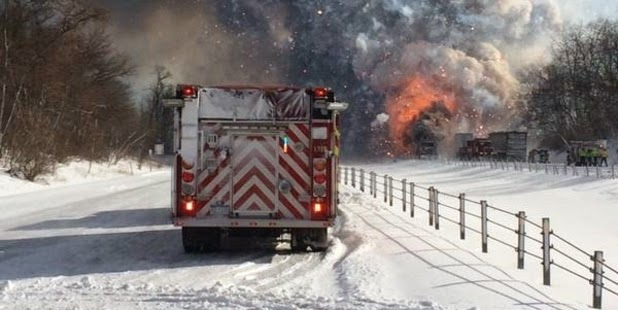 Multiple injuries as fireworks ignite in huge fatal pile-up in Kalamazoo County