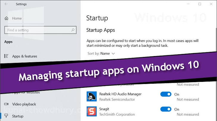 How to manage (enable/disable) startup apps on Windows 10?