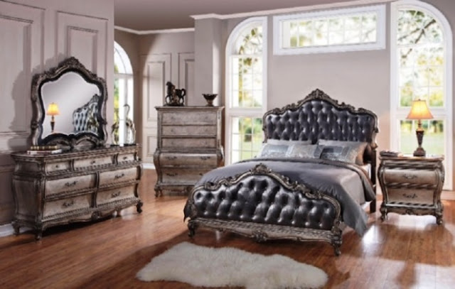 luxury grey vintage bedroom furniture sets