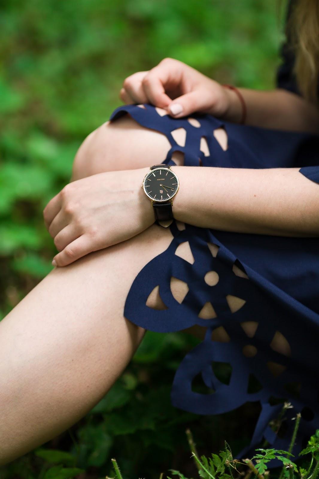 8 Off The Shoulder Flared Dress zaful paul rich watch hat sukienka zaful opinie recenzja buty łuków ażurowa hiszpanka granatowa baletki zegarek ootd lookbook fashionblogger blog modowy lifestyle