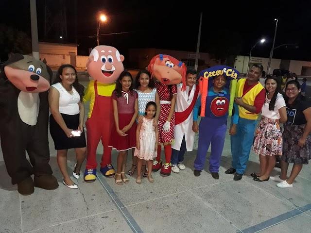 Igreja evangélica promove momento para a família e crianças em Senador Sá com o grupo Ceceu & Cia.