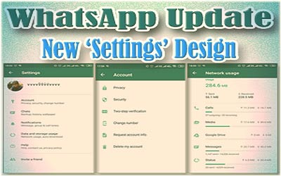 WhatsApp Update on Android Comes With New Settings Design