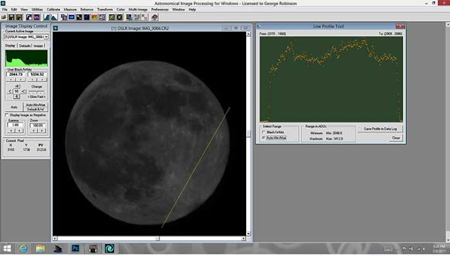 Baseline photometric image of moon, 1/1000 sec, 300 mm (Source: Palmia Observatory)