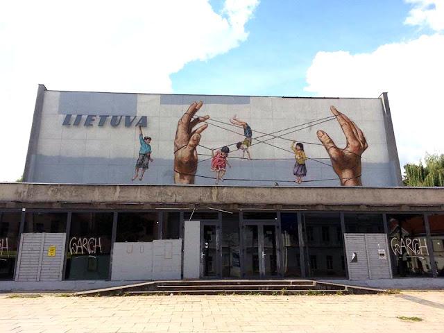 Street Art By Ernest Zacharevic For Vilnius Street Art Festival In Lithuania. 3