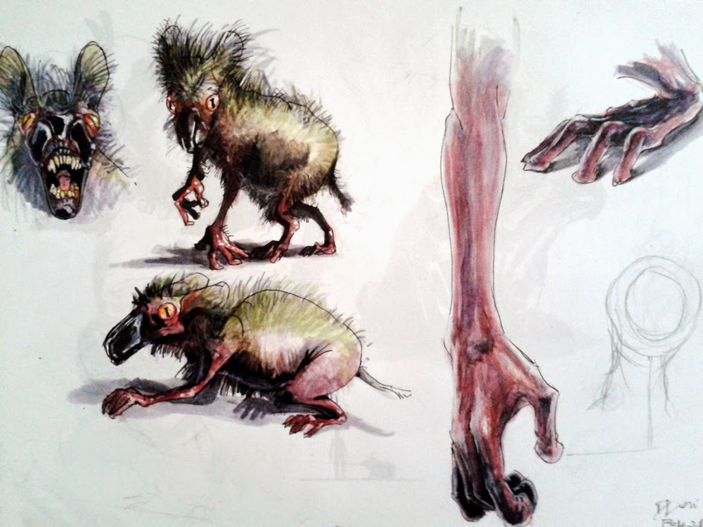creature design, sketchbook, rat, frog, alien creature, sci-fi, douglas deri, deri, deriart