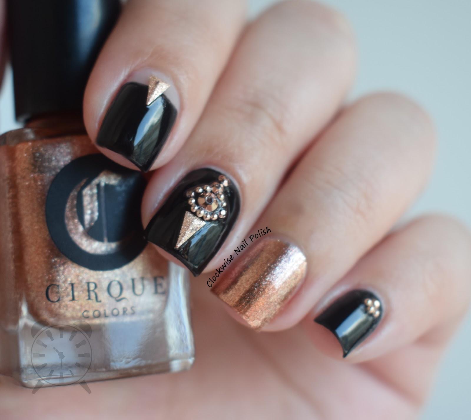 The Clockwise Nail Polish: New Year\'s Eve 2017 Nail Art