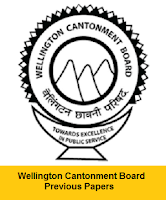 Wellington Cantonment Board Safaiwala Previous Papers