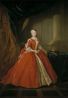 Louis de Silvestre - Portrait of the Princess Maria Amalia of Saxony in Polish Costume