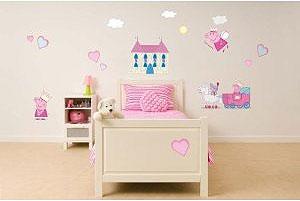 habitación decorada temática Peppa