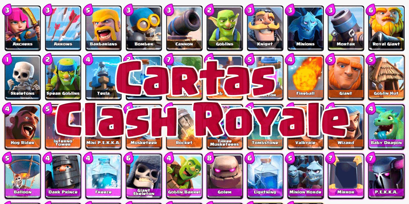 Clash Royale: Cartas De Clash Royale