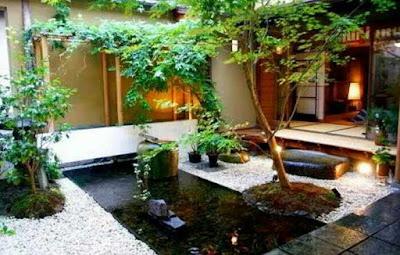 Desain kolam ikan minimalis di lahan sempit, gambar kolam ikan hias