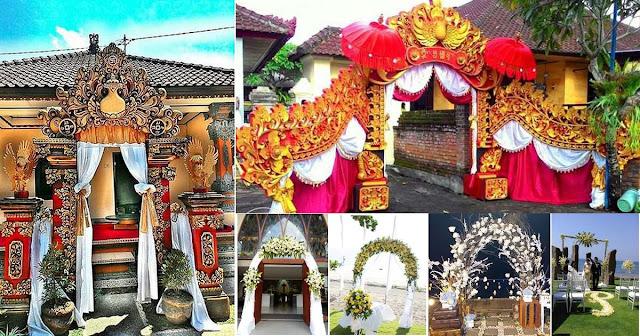 contoh dekorasi pernikahan sederhana bali