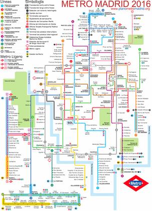 Plano Metro aeropuerto Madrid