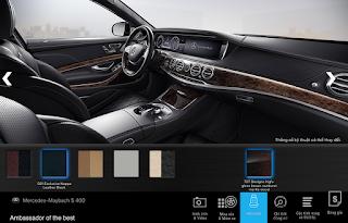 Nội thất Mercedes Maybach S400 4MATIC 2017 màu Đen 501
