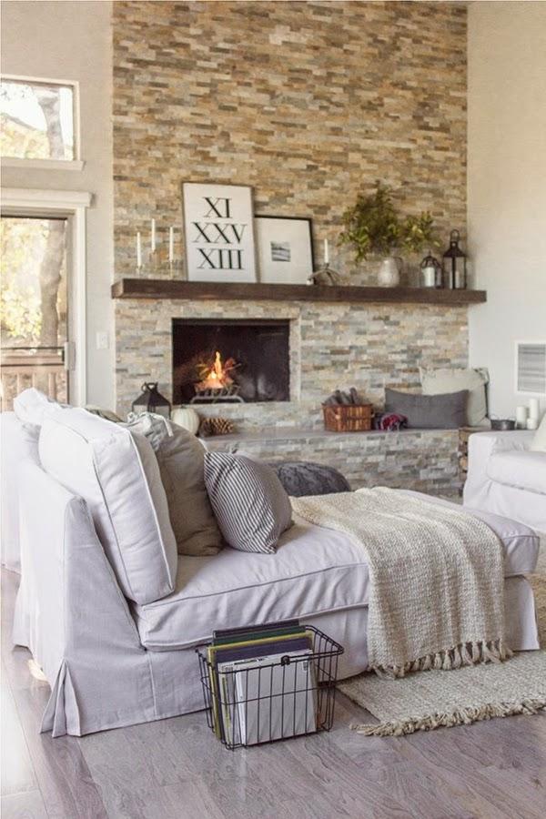 Fotos de salas con paredes de piedra  Salas con estilo