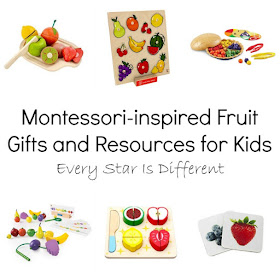 Montessori-inspired Fruit Gifts and Resources for Kids