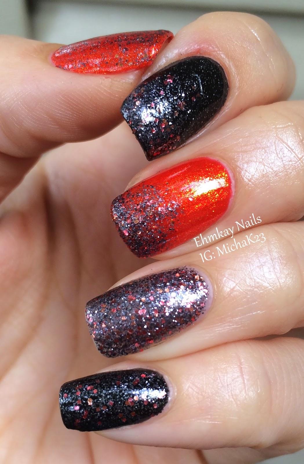 Ehmkay Nails China Glaze Loco Motive Halloween Nail Art