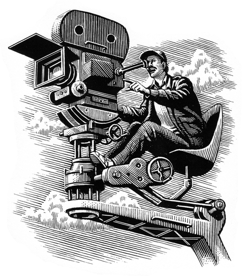 22-Making-Movies-Douglas-Smith-Scratchboard-Drawings-Through-Time-and-Lives-www-designstack-co