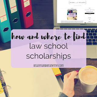If you're concerned about law school student loans, law school debt, or how to pay for law school, I'm here to help! Here's 4 different places to look for to find a law school scholarship. Even if you don't have the highest GPA or LSAT score, you can still find a scholarship for law school! I have information on scholarships from law schools, local Bar association scholarships, ABA scholarships, and a scholarship match service. Plus, I have three free scholarship binder printables! | brazenandbrunette.com