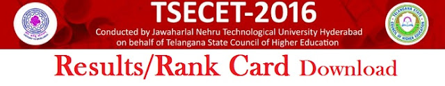 TS ECET Results 2016