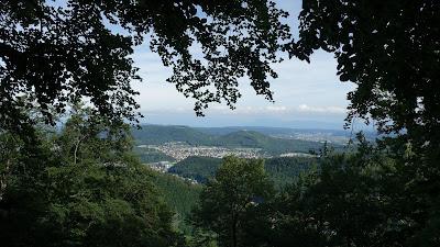 Herzförmiger Ausblick auf Olten vom Liechtberg