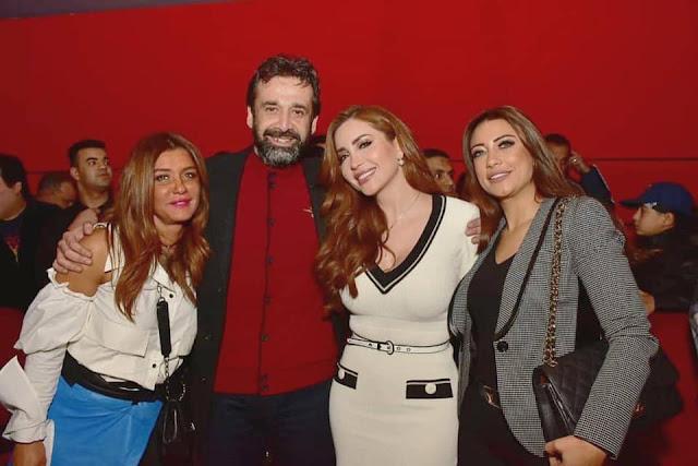 صور نسرين طافش من افتتاح العرض الخاص لفيلم نادي الرجال السري