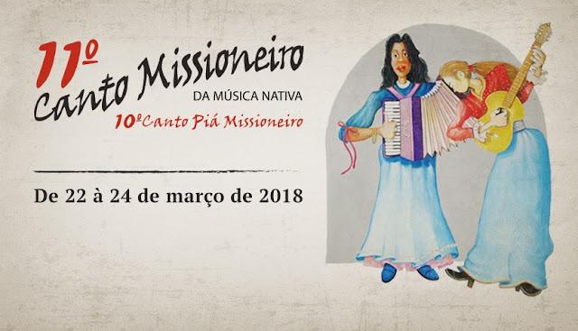 Estão abertas as inscrições para o 11º Canto Missioneiro