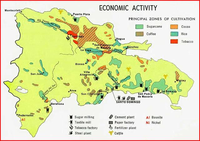 Gambar Peta ekonomi Republik Dominika