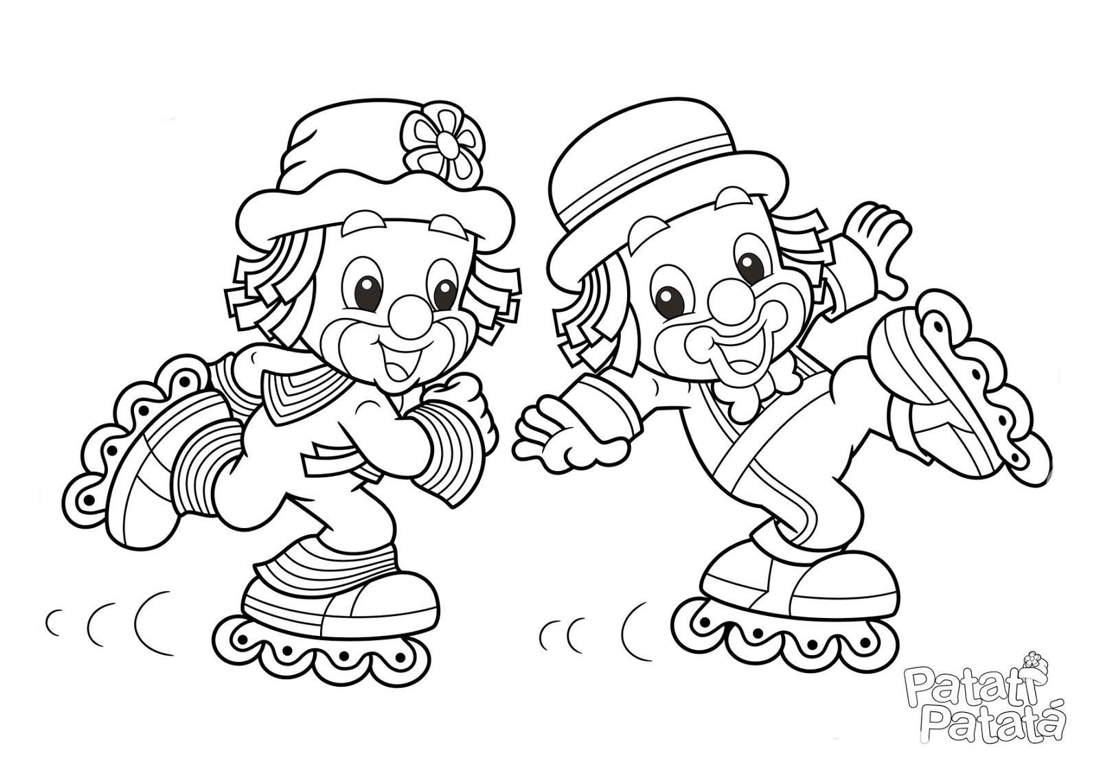 Desenhos Do Patati Patata Para Pintar Colorir Imprimir Moldes E