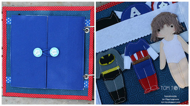 Quiet book for Everett by TomToy Superhero dressing page
