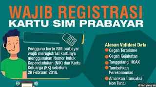 Cara Registrasi Ulang Kartu Prabayar Terbaru 2017