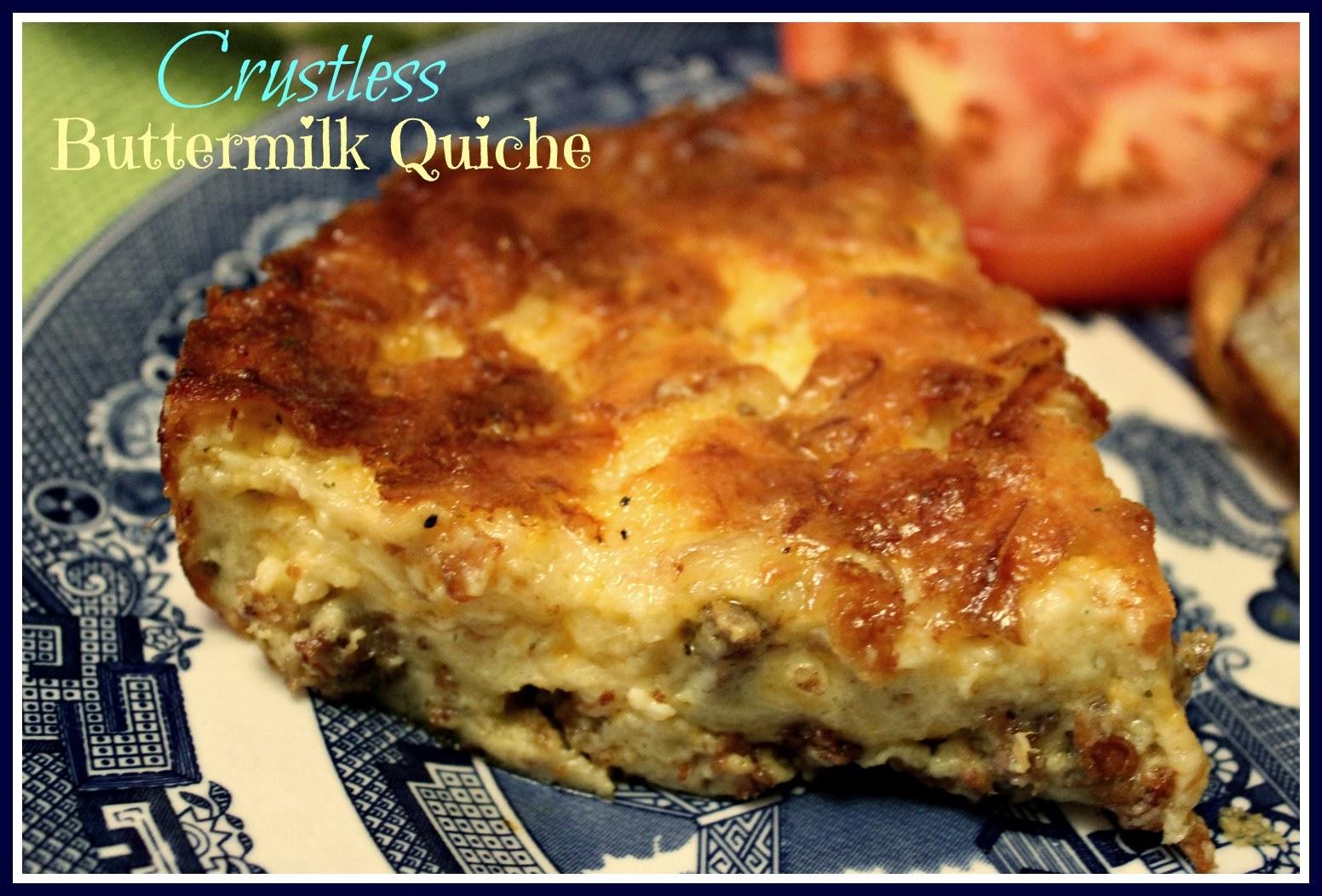 Sweet Tea And Cornbread Crustless Buttermilk Quiche