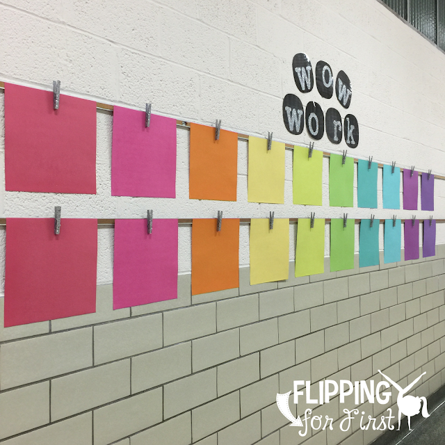 Wow Work Display for student writing in the classroom!  Love this craft idea!