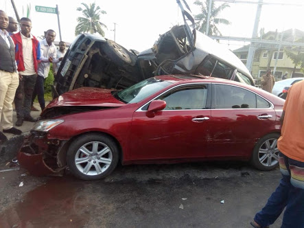Multiple Vehicles Crash Into Each Other In Port-Harcourt (Photos)