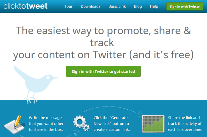 Clicktotweet helps you to easily promote and grow your Twitter reach
